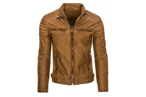 (vel. XL) Pánská karamelová bunda (tx1605)/170451-D23 Velikost: XL Pánské bundy a kabáty