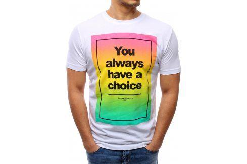 BASIC Pánské tričko (rx0973) velikost: XL, odstíny barev: bílá Pánská trička