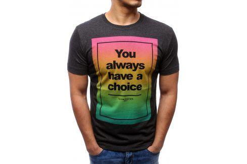 BASIC Pánské tričko (rx0975) velikost: M, odstíny barev: černá Pánská trička