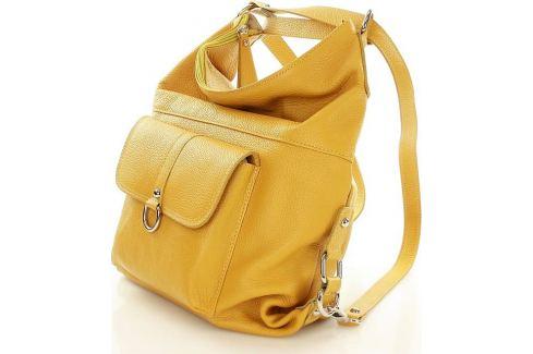 Žlutá kožená taška - batoh Alessia (s116d) velikost  univerzální ... 7bd615aff7