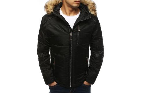BASIC Černá prošívaná zimní bunda (tx3040) Velikost: M Pánské bundy a kabáty