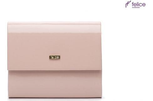 Lakovaná růžová kabelka FELICE (F14 PINK SHINY) Velikost: univerzální Kabelky