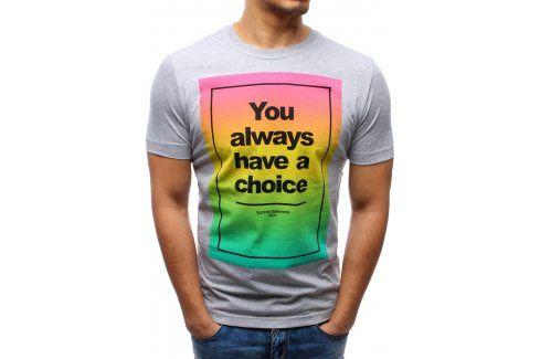 BASIC Pánské tričko (rx0977) velikost: L, odstíny barev: bílá Pánská trička
