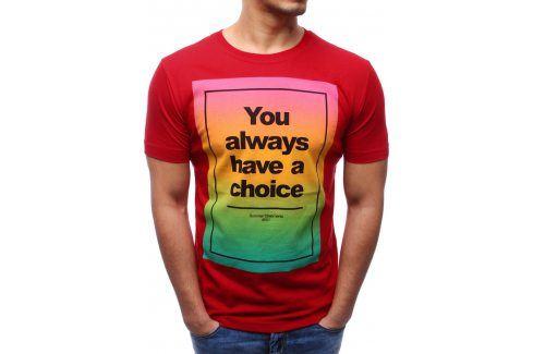 BASIC Pánské tričko (rx0978) velikost: 2XL, odstíny barev: červená Pánská trička