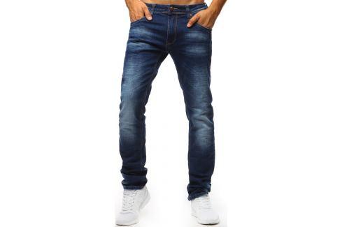 BASIC MODRÉ DŽÍNY SE SVĚTLÝMI PŘECHODY (UX1318) Velikost: 34 Pánské kalhoty