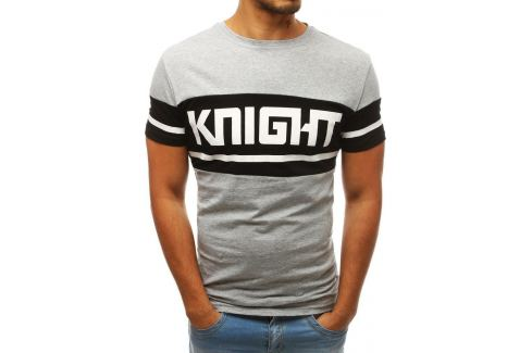 BASIC ŠEDÉ TRIČKO KNIGHT RX3804 Velikost: M Pánská trička