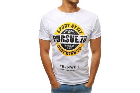 BASIC BÍLÉ TRIČKO PURSUE 63 (RX3552) Velikost: M Pánská trička