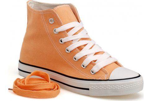 Broskvové kotníkové tenisky DTS8222 velikost: 36, odstíny barev: oranžová Dámská obuv