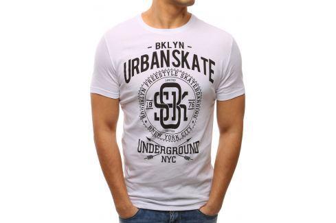 BASIC Bílé tričko s potiskem (rx2641) velikost: M, odstíny barev: bílá Pánská trička