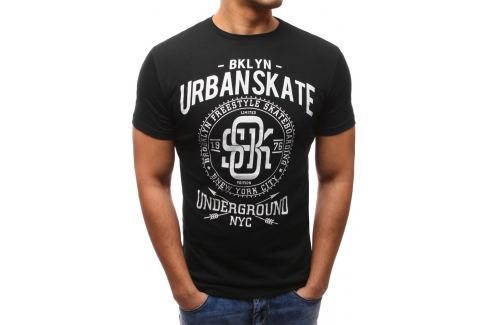 BASIC Černé tričko s potiskem (rx2642) velikost: M, odstíny barev: černá Pánská trička