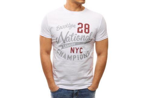 BASIC Bílé tričko s potiskem (rx2646) velikost: M, odstíny barev: bílá Pánská trička