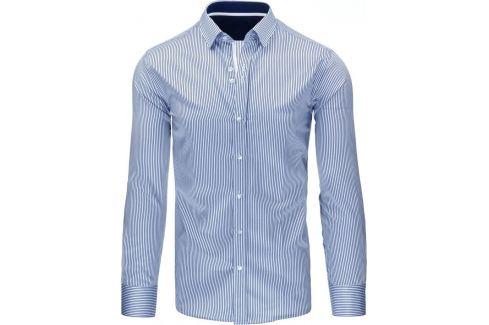 BASIC Pánská modrá košile (dx1061) Velikost: 2XL Pánské košile