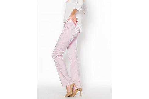 Růžové kalhoty SS-573 velikost: XS, odstíny barev: růžová Dámské kalhoty