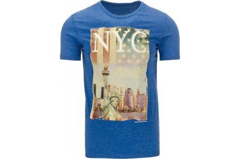 BASIC Pánské tričko s krátkým rukávem (rx1133) velikost: L, odstíny barev: modrá Pánská trička
