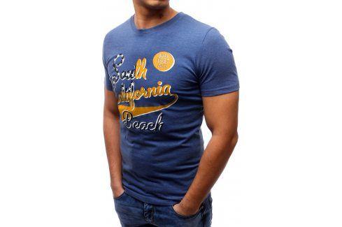 BASIC Pánské tričko s krátkým rukávem (rx1152) velikost: L, odstíny barev: modrá Pánská trička