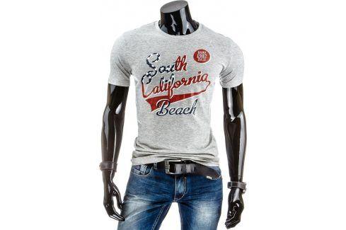 BASIC Pánské tričko s krátkým rukávem (rx1153) velikost: 2XL, odstíny barev: šedá Pánská trička