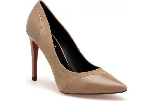 Béžové lodičky KK02P velikost: 36, odstíny barev: béžová Dámská obuv