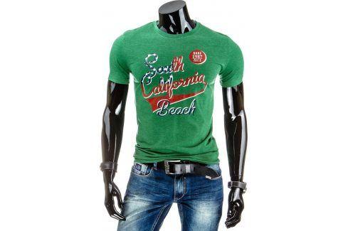 BASIC Pánské tričko s krátkým rukávem (rx1154) velikost: M, odstíny barev: zelená Pánská trička