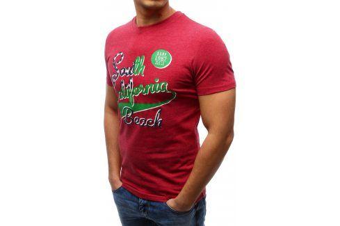BASIC Pánské tričko s krátkým rukávem (rx1155) velikost: L, odstíny barev: červená Pánská trička