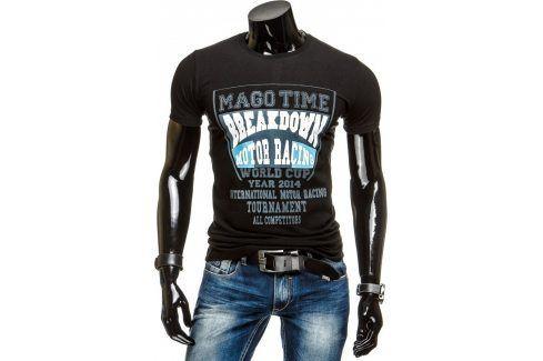 BASIC Pánské černé tričko (rx1329) velikost: 2XL, odstíny barev: černá Pánská trička