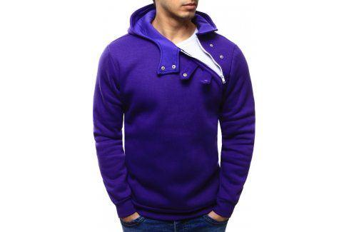 BASIC Pánská fialová mikina (bx0029) velikost: M, odstíny barev: fialová Pánské mikiny