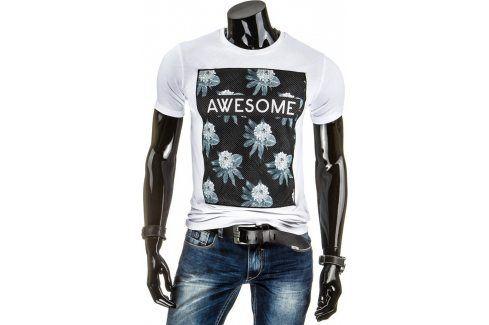 BASIC Pánské tričko s krátkým rukávem (rx1377) velikost: 2XL, odstíny barev: bílá Pánská trička