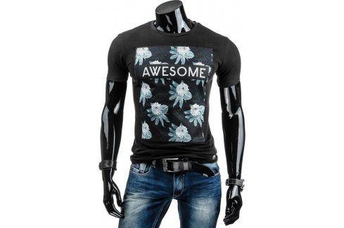 BASIC Pánské tričko s krátkým rukávem (rx1378) velikost: XL, odstíny barev: černá Pánská trička