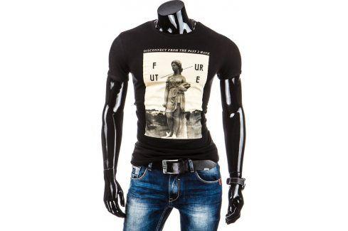 BASIC Pánské tričko s krátkým rukávem (rx1451) velikost: XL, odstíny barev: černá Pánská trička