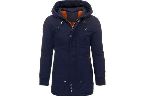 BASIC Pánská zimní modrá bunda (tx1370) Velikost: M Pánské bundy a kabáty