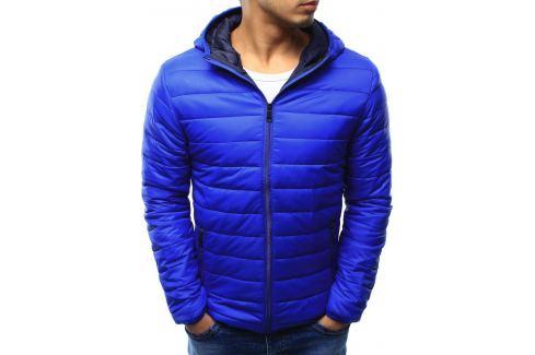 BASIC Pánská modrá bunda (tx1402) Velikost: 2XL Pánské bundy a kabáty
