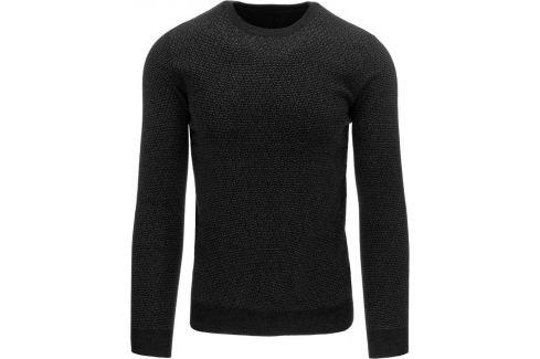BASIC Pánský černý svetr (wx0766) Velikost: 2XL Pánské svetry a roláky