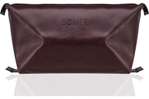SOLIER Kosmetická taška pro muže (SK01 BROWN-MAROON) Velikost: univerzální Pánské tašky