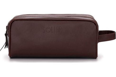 PÁNSKÁ KOŽENÁ HNĚDÁ TAŠKA SOLIER (SK02 BROWN) Velikost: univerzální Pánské tašky