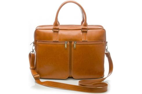 Pánská kožená hnědá taška SOLIER (SL01 camel) Velikost: univerzální Pánské tašky
