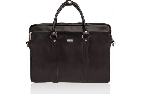 Pánská kožená hnědá taška SOLIER (SL03 dark brown) Velikost: univerzální Pánské tašky
