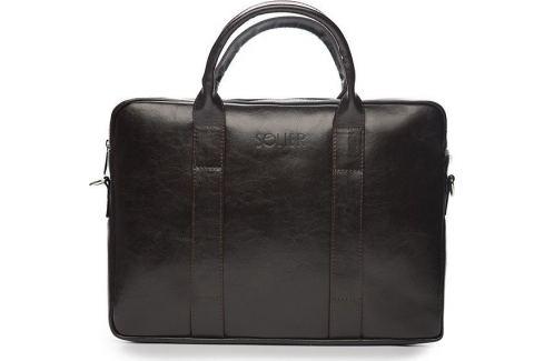 Pánská kožená hnědá taška SOLIER (SL20 dark brown) Velikost: univerzální Pánské tašky