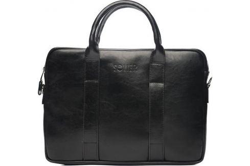 Pánská kožená černá taška SOLIER (SL20 BLACK) Velikost: univerzální Pánské tašky