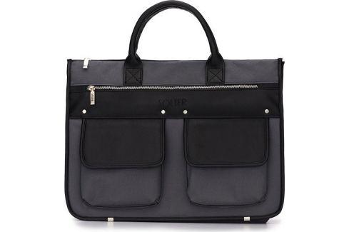 SOLIER Pánská moderní šedo-černá aktovka (S24 BLACK/grey) Velikost: univerzální Pánské tašky