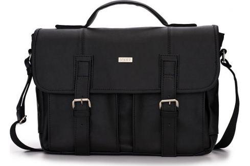 PÁNSKÁ ČERNÁ TAŠKA SOLIER (S14 BLACK) Velikost: univerzální Pánské tašky
