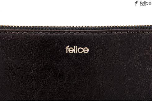SOLIER Černá peněženka FELICE (P01 BLACK) Velikost: univerzální Peněženky