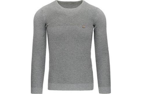 BASIC Pánský šedý svetr (wx0800) Velikost: M Pánské svetry a roláky
