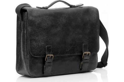 DAAG Kožená černá taška přes rameno (dg3c) Velikost: univerzální Pánské tašky