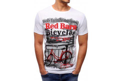 BASIC Pánské bílá tričko s potiskem (rx1632) velikost: 2XL, odstíny barev: bílá Pánská trička