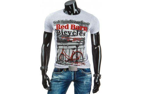 BASIC Pánské šedé tričko (rx1634) velikost: L, odstíny barev: šedá Pánská trička