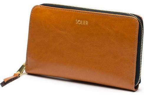 SOLIER Elegantní hnědá peněženka FELICE (P01 LIGHT BROWN) Velikost: univerzální Peněženky