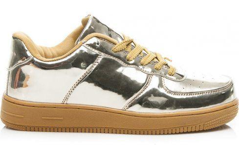 BASIC Zlaté tenisky FASHION (26560) velikost: 37, odstíny barev: zlatá Dámská obuv