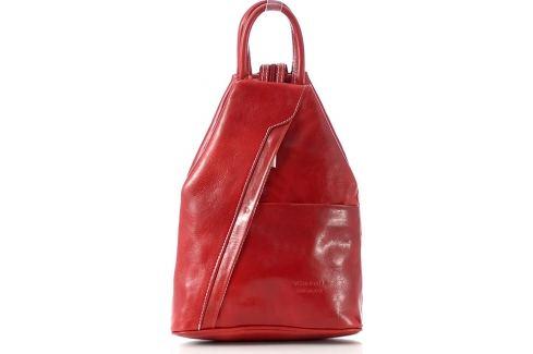 VERA PELLE Dámský kožený červený batoh (Pl2d) Velikost: univerzální Batohy