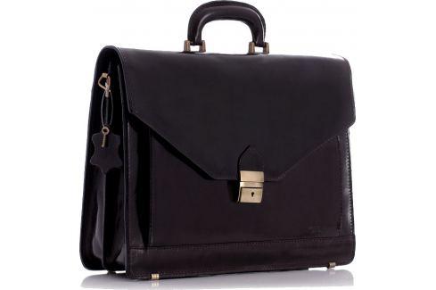VEROSTILO Pánská kožená hnědá aktovka (30c) Velikost: univerzální Pánské tašky