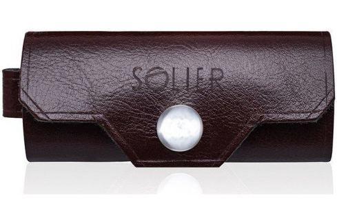 Kožená bordovo-hnědá peněženka na klíče SOLIER (SA11 BROWN-MAROON) Velikost: univerzální Pouzdra