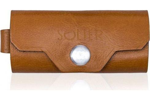 Kožená hnědá peněženka na klíče SOLIER (SA11 camel) Velikost: univerzální Pouzdra